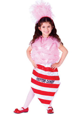 Girls Cotton Candy Costume - HalloweenCostumes4U.com - Kids Costumes