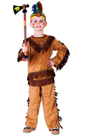 Boys Indian Warrior Costume - HalloweenCostumes4U.com - Kids Costumes