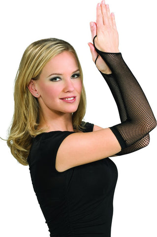 Black Fishnet Arm Warmers - HalloweenCostumes4U.com - Accessories