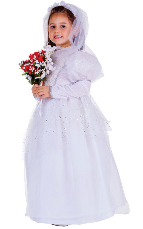 Girls Shimmering Bride Costume - HalloweenCostumes4U.com - Kids Costumes