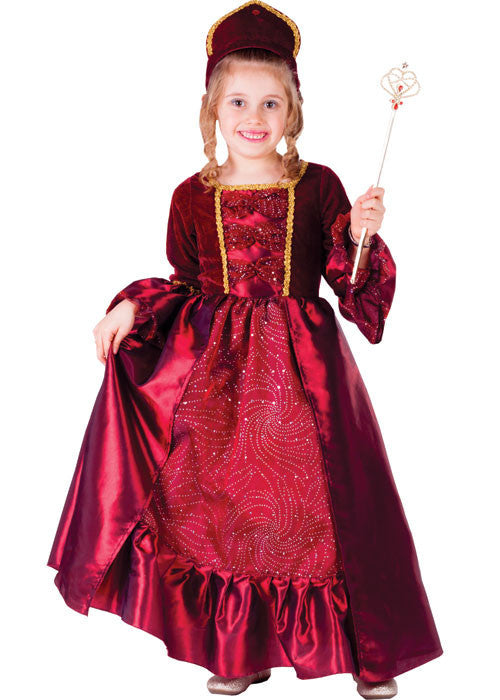 Girls Burgundy Belle Costume