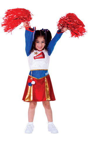 Girls American Cheerleader Costume - HalloweenCostumes4U.com - Kids Costumes