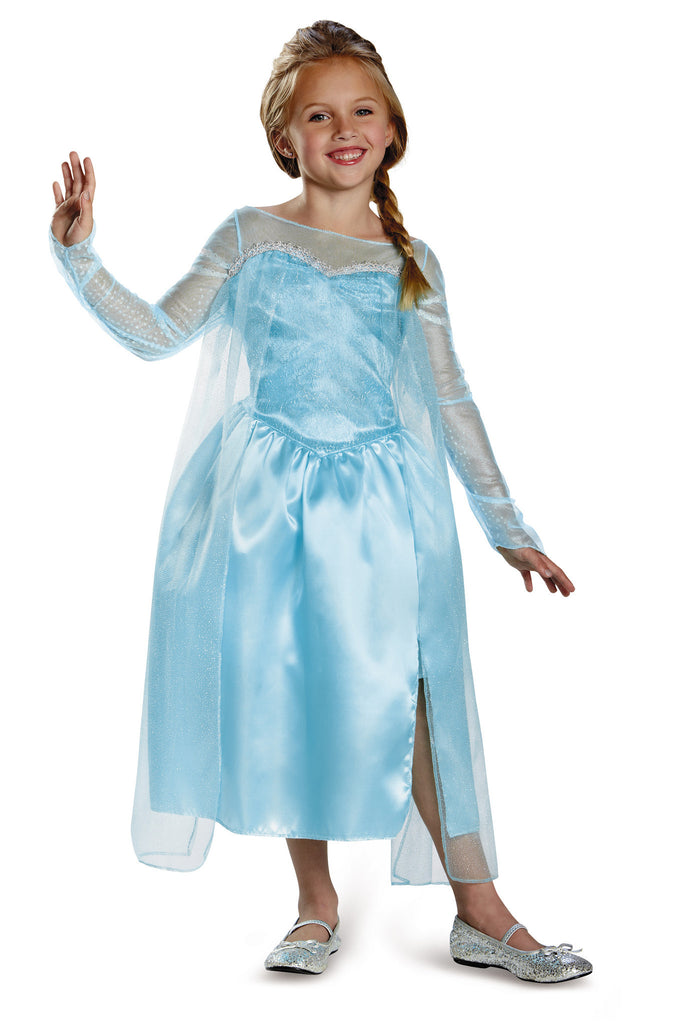 Girls Disney Princess Classic Elsa Costume - HalloweenCostumes4U.com - Kids Costumes