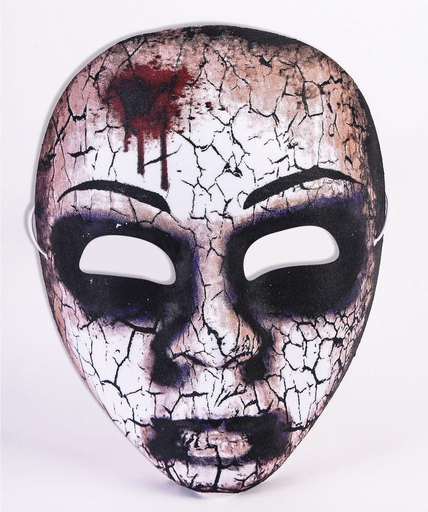 Cracked Zombie Doll Half Mask