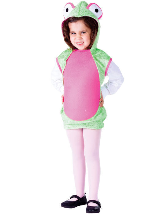 Girls Pink Frog Costume - HalloweenCostumes4U.com - Kids Costumes