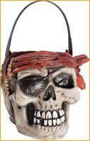 Pirate Candy Pail - HalloweenCostumes4U.com - Accessories