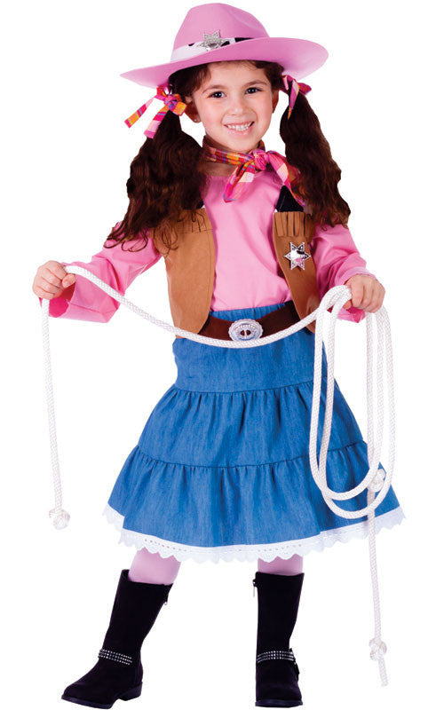 Girls Junior Cowgirl Costume - HalloweenCostumes4U.com - Kids Costumes