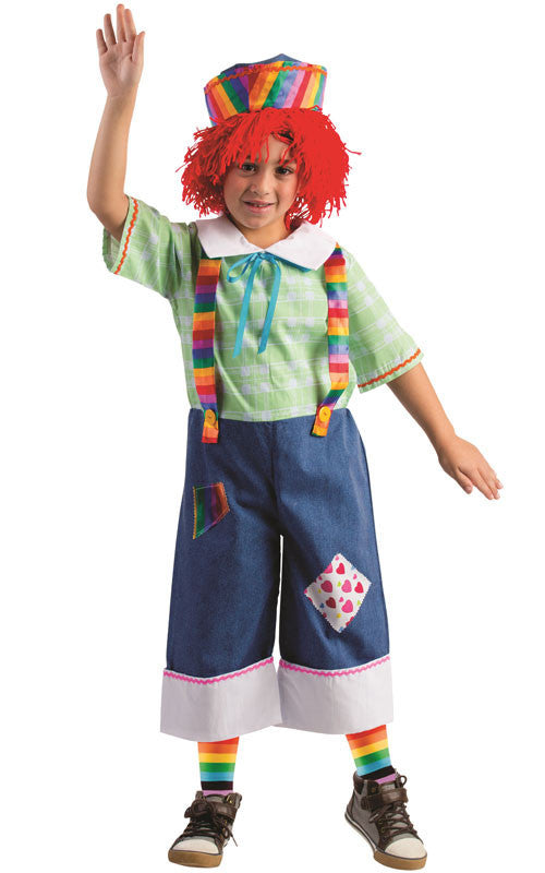 Boys Rainbow Rag Boy Costume - HalloweenCostumes4U.com - Kids Costumes