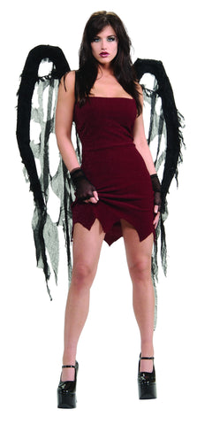 Black Gauze Wings - HalloweenCostumes4U.com - Accessories