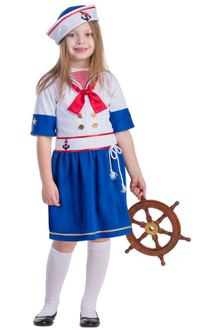 Girls Sailor Costume - HalloweenCostumes4U.com - Kids Costumes