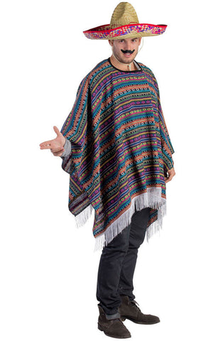 Adults Mexican Poncho - HalloweenCostumes4U.com - Adult Costumes