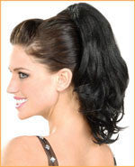 Brunette Pony Tail Hair Extension - HalloweenCostumes4U.com - Accessories