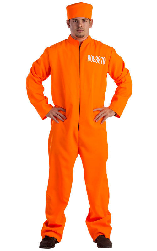 Mens Prisoner Costume - HalloweenCostumes4U.com - Adult Costumes