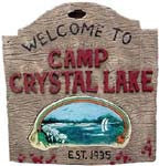 Friday the 13th Camp Crystal Lake Sign - HalloweenCostumes4U.com - Decorations