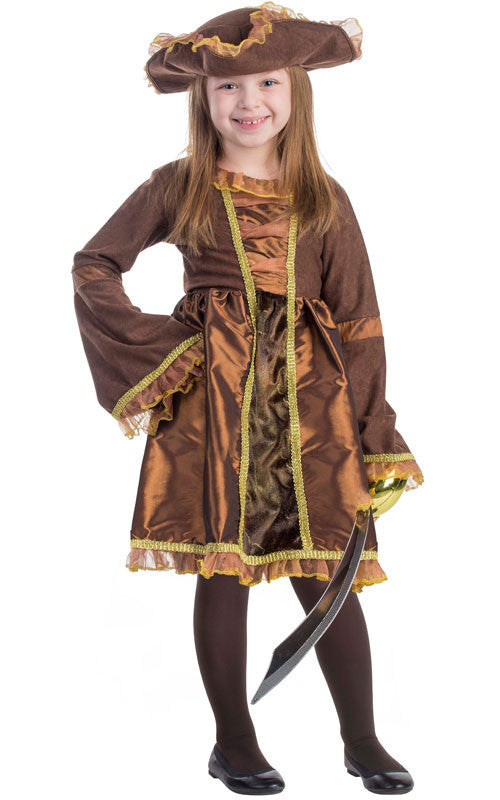 Girls Pretty Pirate Costume - HalloweenCostumes4U.com - Kids Costumes