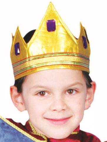 Kids Gold Royal Crown - HalloweenCostumes4U.com - Accessories