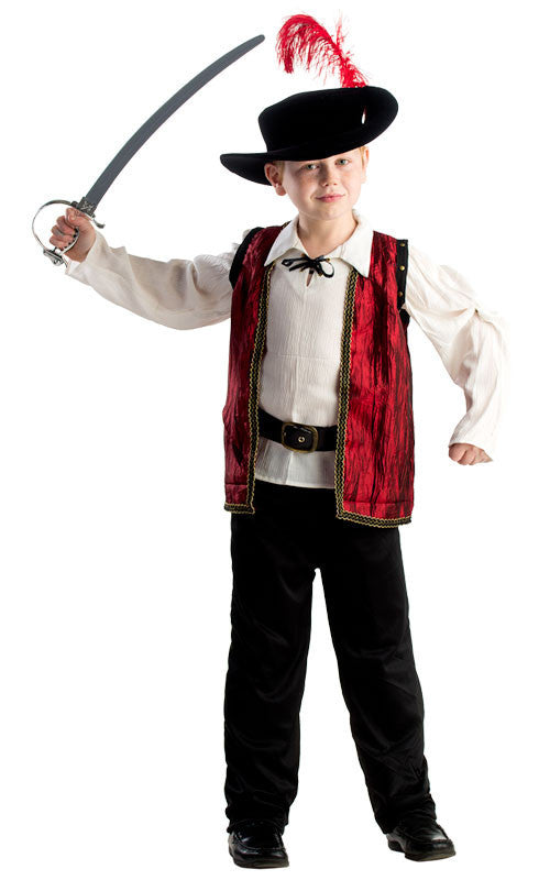Boys Courageous Musketeer Costume - HalloweenCostumes4U.com - Kids Costumes