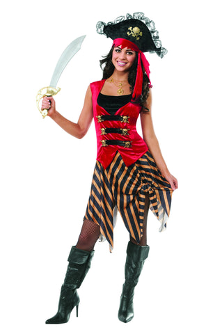 Womens Gold Coast Pirate Costume - HalloweenCostumes4U.com - Adult Costumes