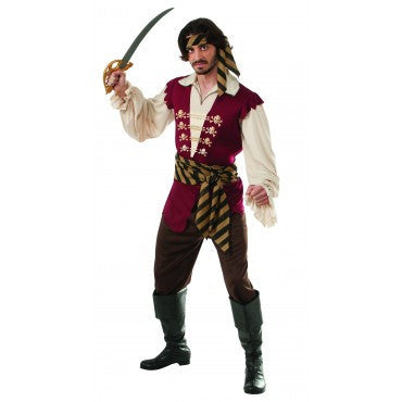 Mens Pirate Raider Costume - HalloweenCostumes4U.com - Adult Costumes