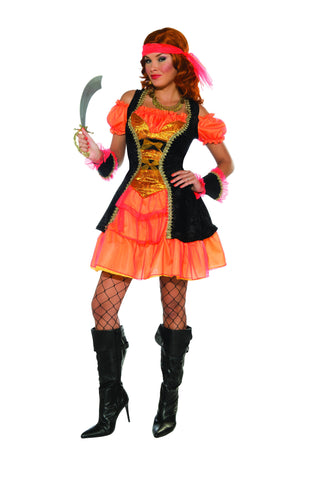 Womens Tangerine Pirate Costume - HalloweenCostumes4U.com - Adult Costumes