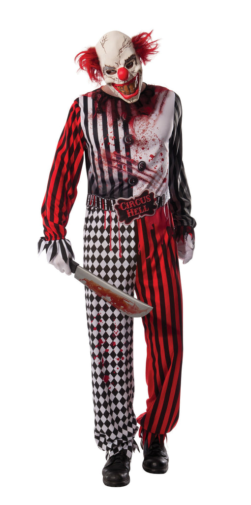 Mens Evil Clown Costume