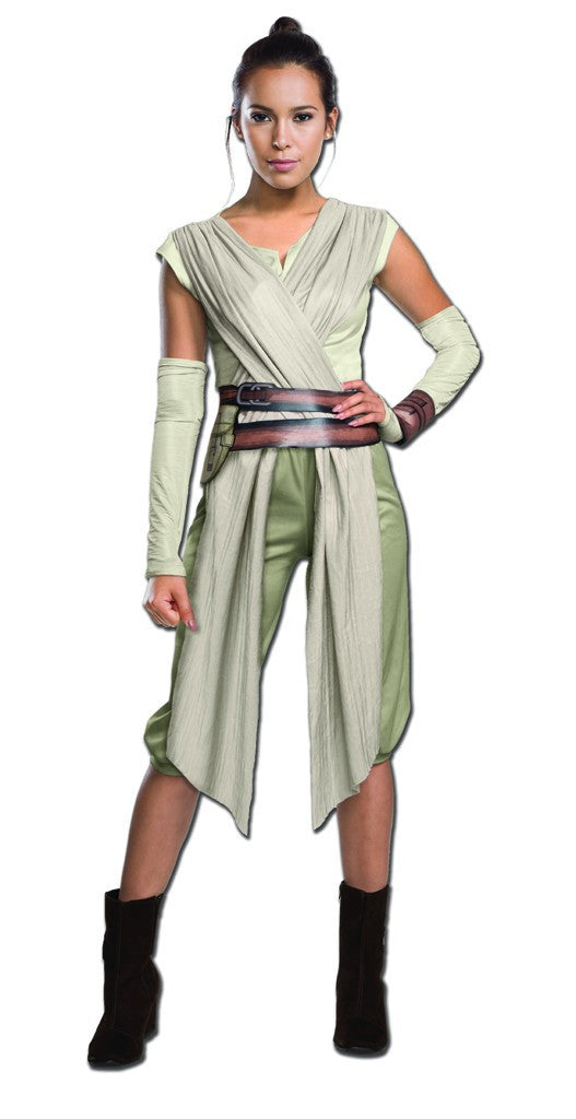 Womens Star Wars Deluxe Rey Costume - HalloweenCostumes4U.com - Adult Costumes
