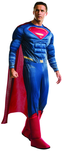 Mens Deluxe Superman Costume - HalloweenCostumes4U.com - Adult Costumes