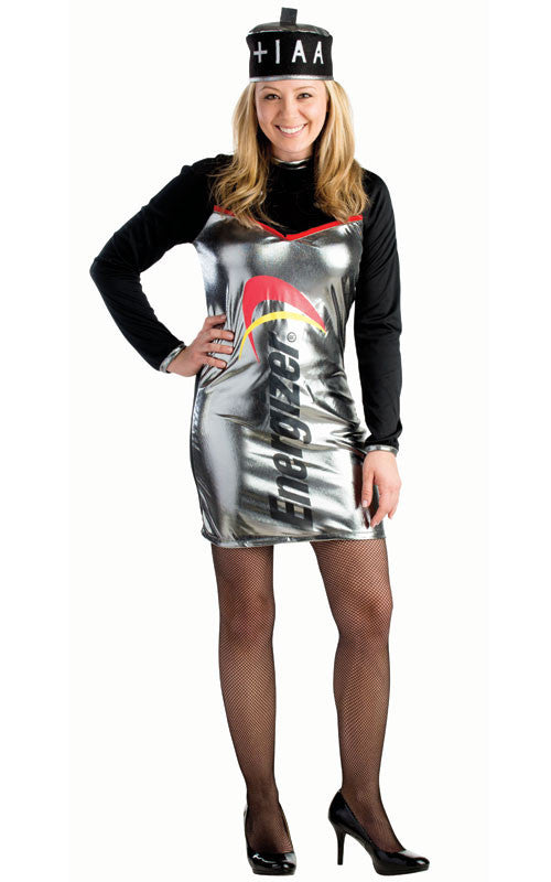 Women Energizer Battery Costume - HalloweenCostumes4U.com - Adult Costumes - 1