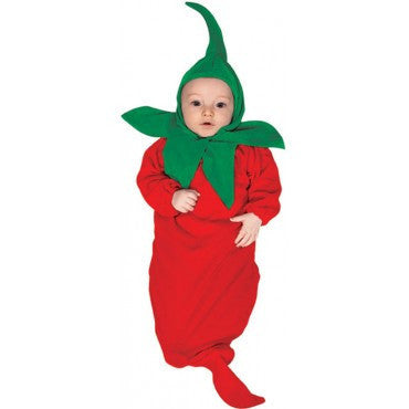 Infants Chili Pepper Costume - HalloweenCostumes4U.com - Infant & Toddler Costumes
