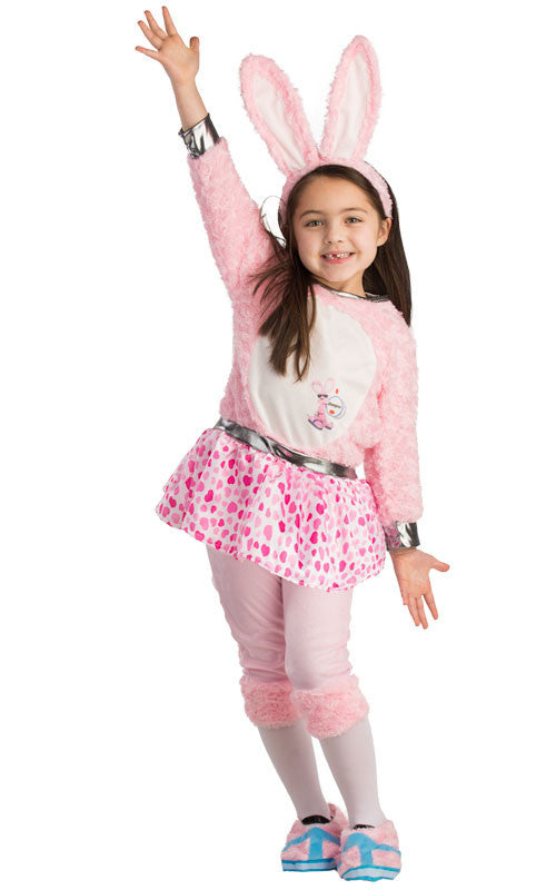 Girls Energizer Bunny Costume - HalloweenCostumes4U.com - Kids Costumes - 1
