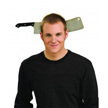 Butcher Cleaver Through the Head - HalloweenCostumes4U.com - Accessories