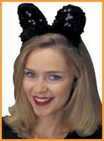Sequin Cat/Mouse Ears - HalloweenCostumes4U.com - Accessories