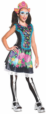 Girls Monster High Skelita Calaveras Costume - HalloweenCostumes4U.com - Kids Costumes