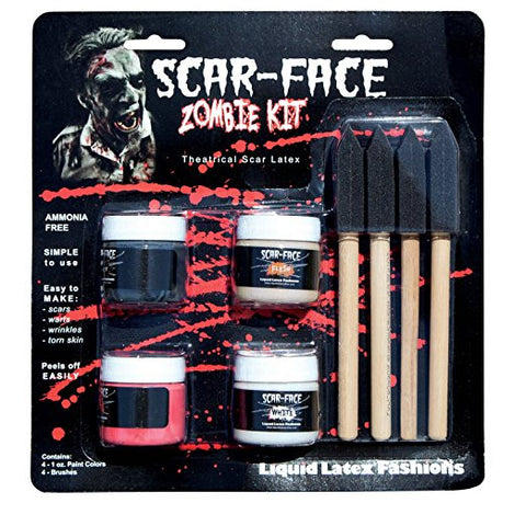 Scar-face Liquid Latex Zombie Kit
