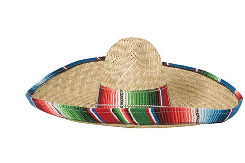 Sombrero with Serape Edge