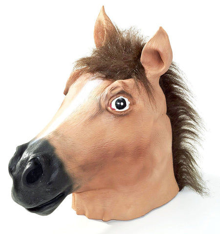 Brown Horse Head Mask