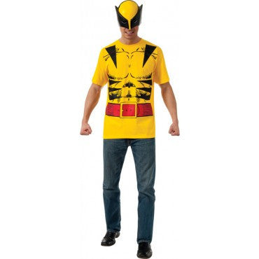 Mens Wolverine T-Shirt and Mask - HalloweenCostumes4U.com - Adult Costumes