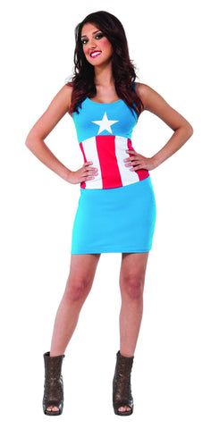 Womens American Dream Tank Dress - HalloweenCostumes4U.com - Adult Costumes