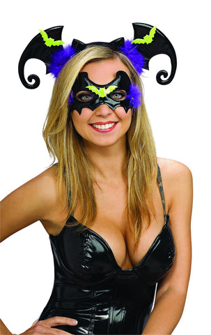 Bat Eyemask and Headband Set - HalloweenCostumes4U.com - Accessories