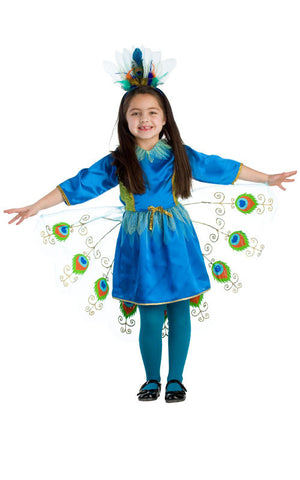Girls Proud Peacock Costume - HalloweenCostumes4U.com - Kids Costumes