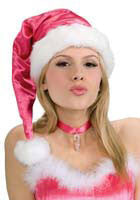 Pink Santa Hat - HalloweenCostumes4U.com - Accessories