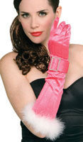 Pink Gloves with Buckle - HalloweenCostumes4U.com - Accessories
