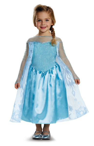 Girls Disney Princess Elsa Costume - HalloweenCostumes4U.com - Kids Costumes - 1