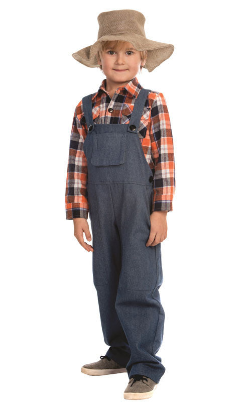 Toddlers/Kids Farmer Costume - HalloweenCostumes4U.com - Kids Costumes