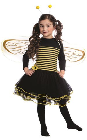 Girls Bumblebee Costume - HalloweenCostumes4U.com - Kids Costumes