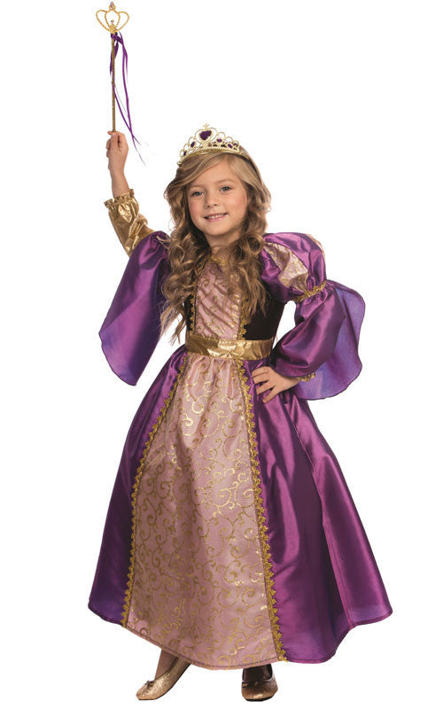 Girls Purple Royalty Princess Costume - HalloweenCostumes4U.com - Kids Costumes
