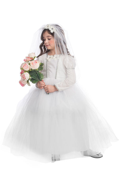 Girls Bridal Princess Costume - HalloweenCostumes4U.com - Kids Costumes