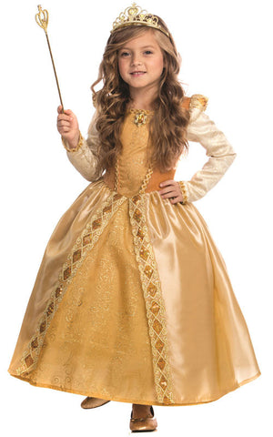 Girls Golden Princess Costume - HalloweenCostumes4U.com - Kids Costumes