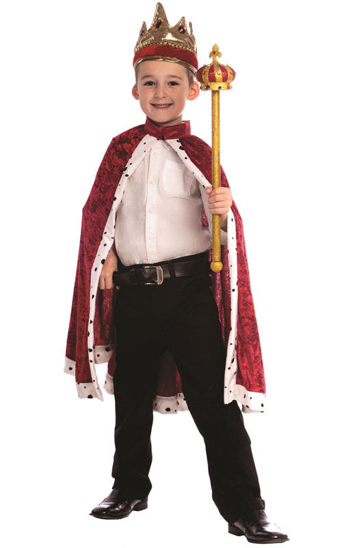 King's Robe & Crown Set - Various Colors - HalloweenCostumes4U.com - Accessories - 1