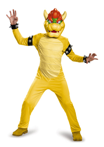 Boys Deluxe Bowser Costume - HalloweenCostumes4U.com - Kids Costumes - 1